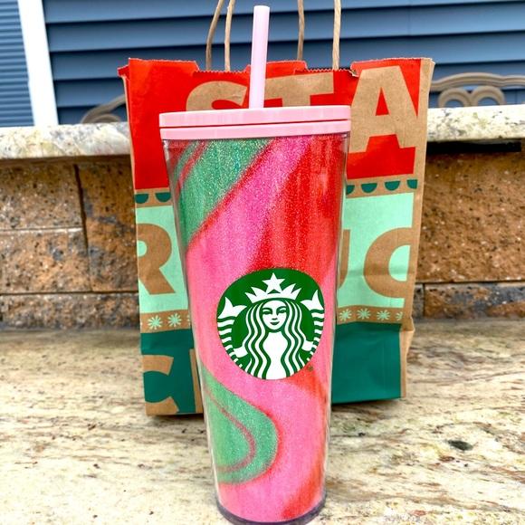 Starbucks Holiday 2020 Glitter Swirl Tumbler